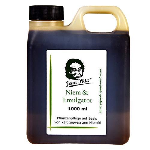 Jean Pütz Original Niemöl (Neemöl) & Emulgator Neem Niem gebrauchsfertig 1 l