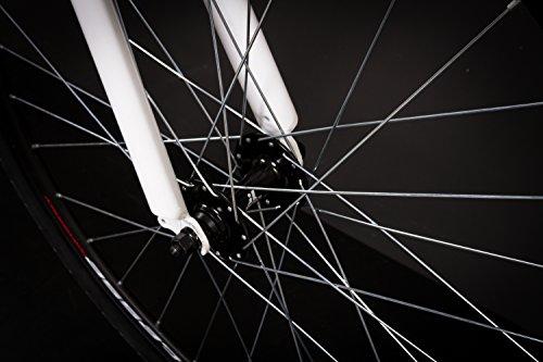 28″ Zoll Alu Rennrad Single Speed GIORDANO Race Bike Fixi Fahrrad Rh 56cm weiss - 6