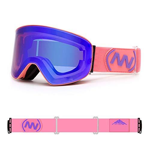 ZMXZMQ Ski Goggles Mannen En Vrouwen, Snowboard Goggles, Volledige Revo Coating, Anti Fog, 100% Uv400, Otg - Ski, Sneeuwscooter En Snowboard