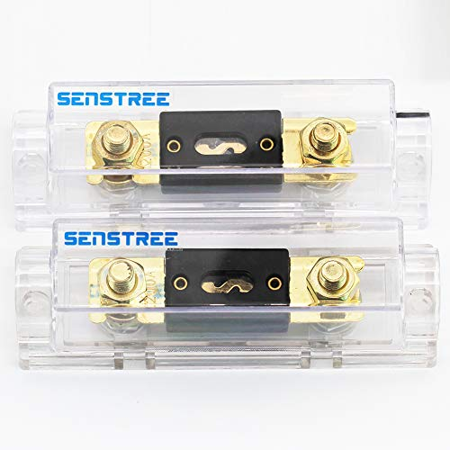 SENSTREE 0 2 4 Gauge Automotive Car Audio Stereo ANL Fuse Holder 2 Pieces + 200Amp ANL Fuses 2 Pieces