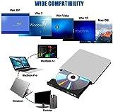 Externes Blu Ray DVD Laufwerk,USB 3.0 Tragbare Ultra Slim BD/CD/DVD RW Player Disc für Windows...