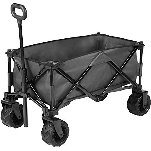 JOVNO Multipurpose Large Capacity Collapsible Wagon Cart Heavy Duty Beach Wagons...