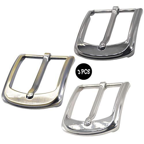 3 Piezas 40mm Metal Hebilla De Cinturón Hebilla De Cinturón De Acero Inoxidable Diy Hebillas De Cinturón De Medio Latón Cinturón Hombres Hebilla Para Cinturón Ancho De 3.8-3.9 Cm Id De 40 MM