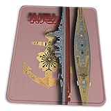 N\A Hiei Battleship Mouse Pad Base de Goma Antideslizante para computadora de Juegos de Oficina con Borde Cosido