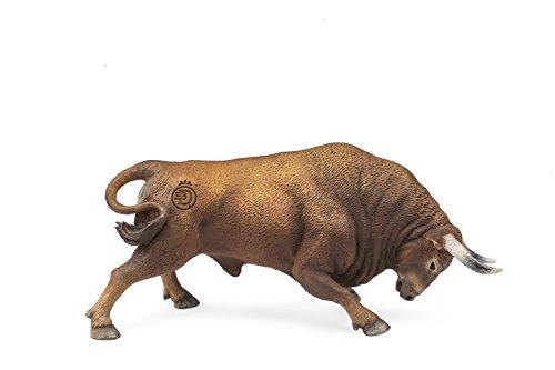 Deqube- Bravo Colorado Embistiendo Figura de Toro, Color marrón, 17x8x4,2 (1)