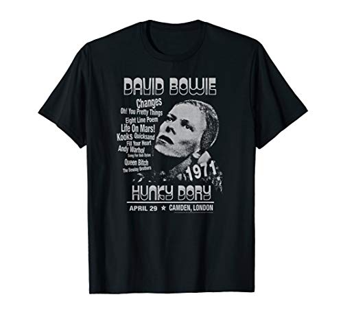 Official David Bowie Hunky Dory T-shirt. Separate Men's and Women's Sizes
