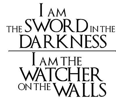 Game of Thrones - Knights Watch Oath Vinyl Decal Wall Art Sticker ver. 2