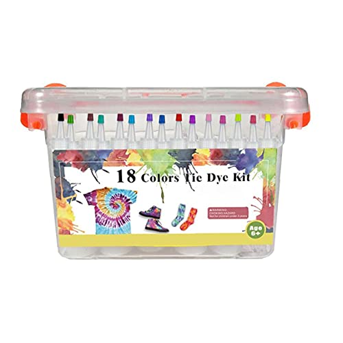 Kit de tinte de corbata Kit de tinte de bricolaje conjunto de tinte de textiles conjunto de pinturas de textiles para niños graffiti tinte pulvos kit 18 colores decoración para artes artesanías fiesta