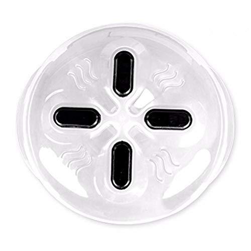 Ruluti Imán De Alimentos Pantalla Protectora Microondas Hover Anti-pulverización Catódica Cubierta con Steam Vents Tapa Resistente Calor