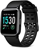 Glymnis Smart Watch Fitness Tracker IP 68 Waterproof Fitness Watch Activity Tracker with 1.3' Full Touch Color Screen with Heart Rate Monitor Sleep Monitor Step Calorie Counter (Black)
