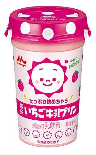 森永乳業 たっぷり飲めちゃう森永いちご牛乳プリン 240ml×10本