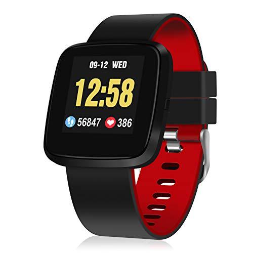 GOOJODOQ Pulsera Actividad, Fitness Tracker IP67 Impermeable Monitor de Frecuencia Cardiaca Calorías, Sueño, Podómetro,9 Modos de Deporte, Pulsera Deportiva para Android y iOS