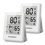 ELEGIANT Digital Hygrometer (2 Pack), Humidity Gauge Mini Indoor Thermometer Accurate Temperature and Humidity...