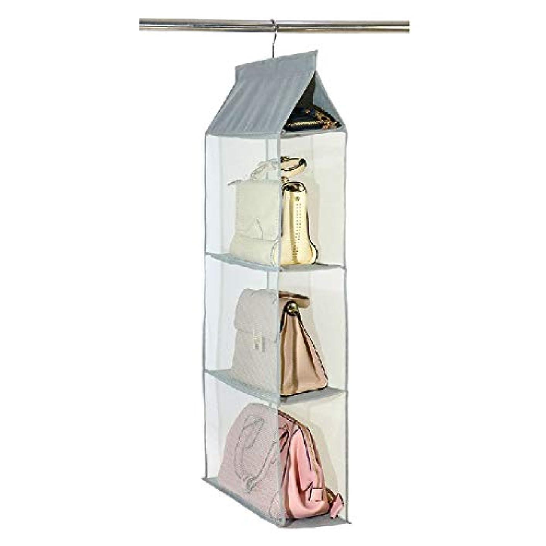 非効率的な明確な溶岩Ruzzy123 収納袋収納袋は、袋家庭用収納袋を掛けるクローゼットの収納バッグ、布の袋吊り、生地はバッグを掛けるぶら下げ、3袋は、袋を掛けます 購入へようこそ