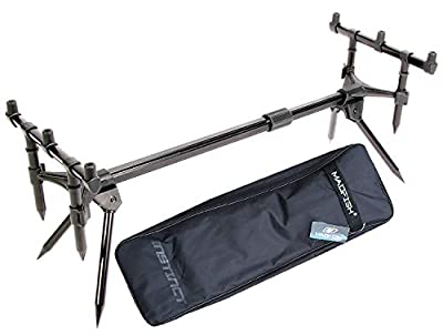 Madfish SPECIMEN CARP FISHING Goal Post Rod Pod With Buzzer Bars & Carry Case by Madfish
