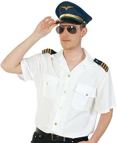 KarnevalsTeufel Pilot Hemd, versch. Größen, Kurze Arme, Top Quallität (XX-Large)
