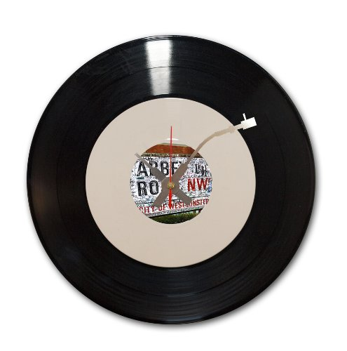 Abbey Road, reloj de vinilo reciclado (12