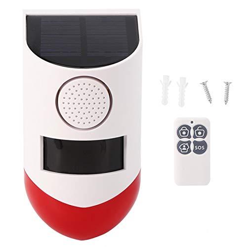 Estroboscópico de Flash inalámbrico, Alarma Solar confiable y respetuosa con el Medio Ambiente, cercas Interiores Jardines para Patios al Aire Libre