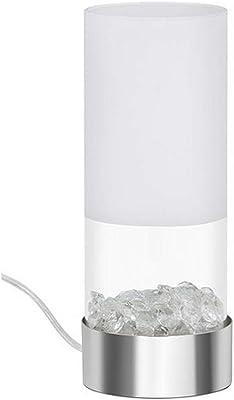 Briloner Leuchten-Lámpara de mesa, cómoda, LED, 5 W, 400 lúmenes, diseño de cristal de aluminio, blanco cálido