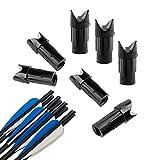 SHARROW 100pcs Freccia Nock Cocche della Frecce di Balestra Plastica Nock per ID 7.6mm Alb...