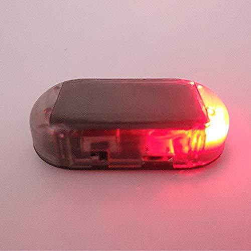 XUPHINX Alarme de Voiture Lumière LED Avertissement de sécurité Solaire Système factice Anti-vol Flash Lampe Clignotante Rouge