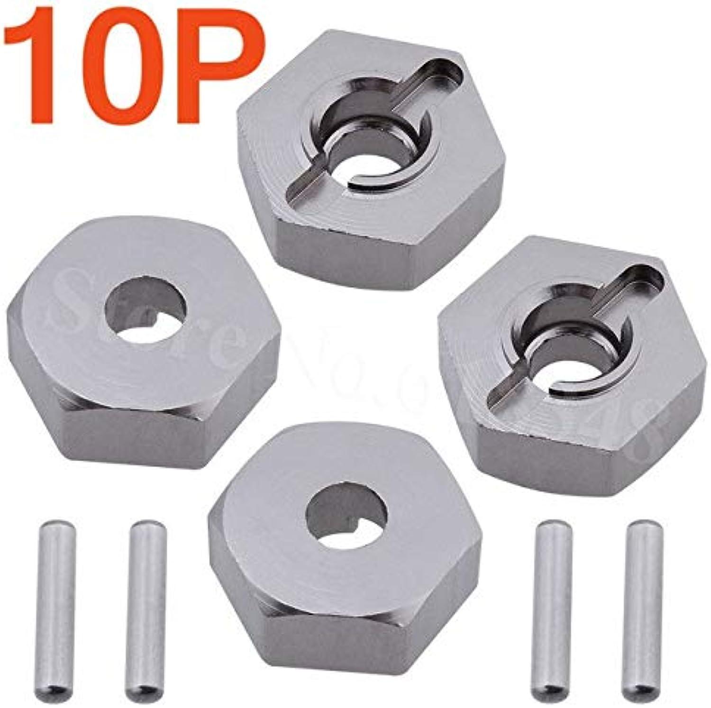 Wholesale 10 Sets Lot HSP 102042 Aluminum Wheel Hex 12mm 02134 Upgrade Parts for RC Car 1 10 HPI Himoto Redcat   Grey