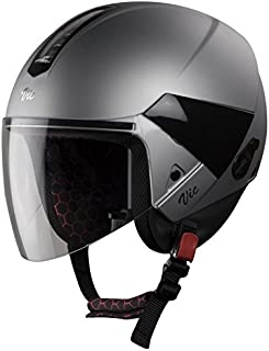 Steelbird Hi-Gn SBH-5 VIC Open Face Helmet with Plain Visor (Female, Matt Silver, S)