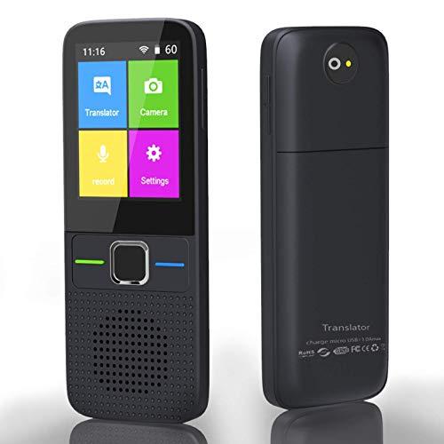 KUANDARGG Dispositivo De Traducción De Idiomas: Inteligente, Inteligente, Bidireccional, WiFi/Hotspot/Offline Instantáneo Soporte De Pantalla Táctil De 2.4 Pulgadas 137 Idiomas