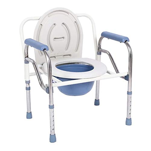 Portable Toilet Seat Chair Portable Bedside Commode Raised Toilet Seats Steel Drop Arm Padded Seat Arms Adjustable Legs Camping Personal Care Bath Shower Safety Seating Transfer Benches -  leiliping, 42351366258541