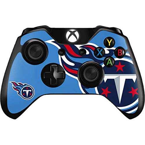 Skinit Decal Gaming Skin Compatible with Xbox One Controller - Officially Licensed NFL Tennessee Titans Large Logo Design