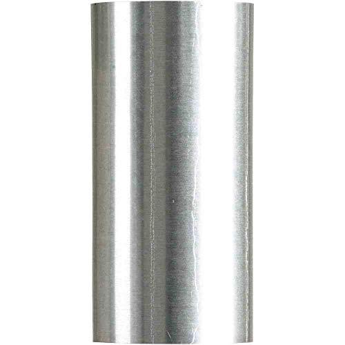 FIREFIX R130/2D A100/2 FAL 250 mm, ø 100 mm-Ofenrohre aus Stahlblech, 0,6 mm stark, innenliegend gemufft, Längen lasergeschweißt, Silber