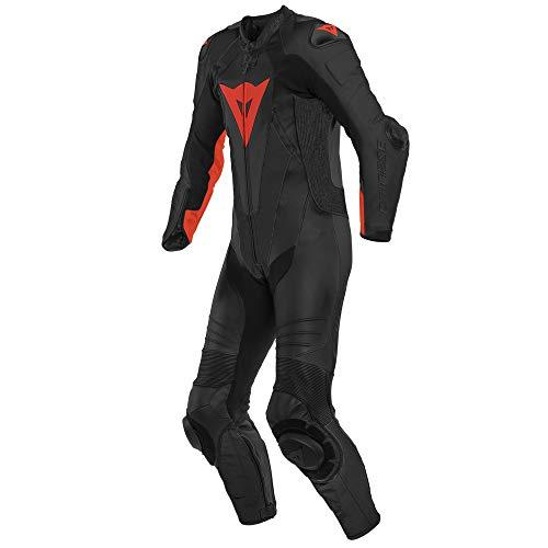 Dainese Laguna Seca 5 Abito in pelle per moto perforato a un pezzo Nero/Rosso 50