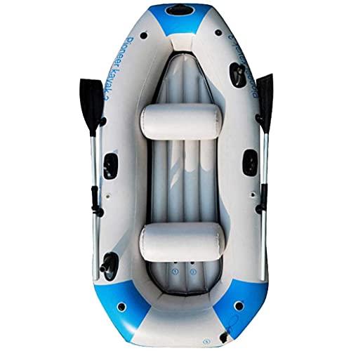 ZXQZ Kayak Kayac, Bote De Goma Inflable para 3 Personas, Barco de Canoa con Remos, Barco A La Deriva