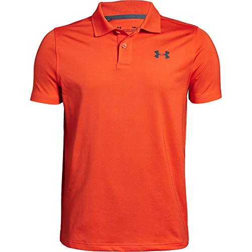 Under Armour Performance 2.0 Golf-Poloshirt für Jungen, Jungen, Polo, Performance Polo 2.0, Papaya (829)/Pitch Grau, Large