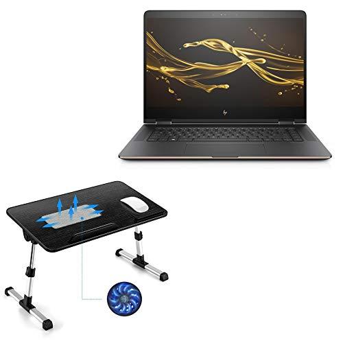Suporte e suporte para HP Spectre x360 (15-bl075nr), BoxWave [suporte de bandeja de cama de madeira verdadeira para laptop] mesa para trabalho confortável na cama. Para HP Spectre x360 (15-bl075nr) - Preto Jet