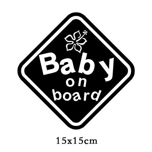 RSZHHL Pegatina de coche TZ-1907# 15x15cm bebé a bordo coche adhesivo divertido coche pegatinas estilo extraíble calcomanía