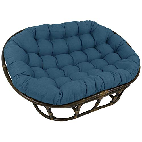 Blazing Needles 65-inch Indoor/Outdoor Double Papasan Cushion Sea Blue
