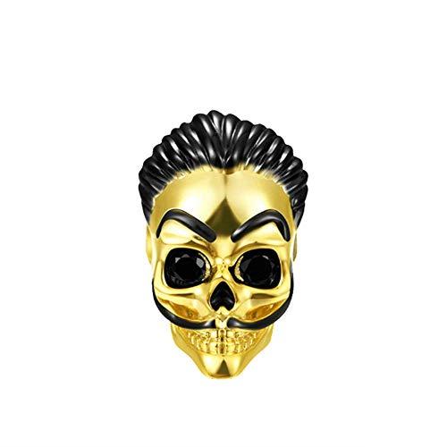 GNOCE Dali Skull Charms Bead 18k Chapado En Oro De Plata De Ley 925 Se Adapta a Todas Las Pulseras y Collares El Mejor Regalo Para Mujeres Y Hombres