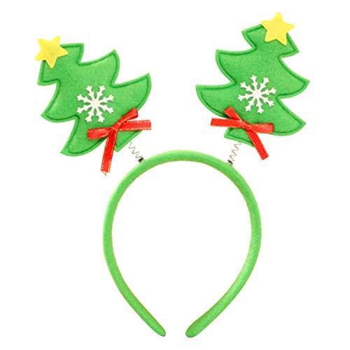 Amosfun Kerstmis Hoofdband Kerstboom Haarbanden met Boog Sneeuwvlok Kerstmis Boom Haar Hoops Haaraccessoires Kerstmis Photo Props voor Vrouwen (Rood)