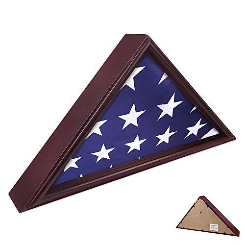 AtSKnSK 5x9.5 Flag Display Case Burial Funeral Military Veteran Flag Holder Frame Box