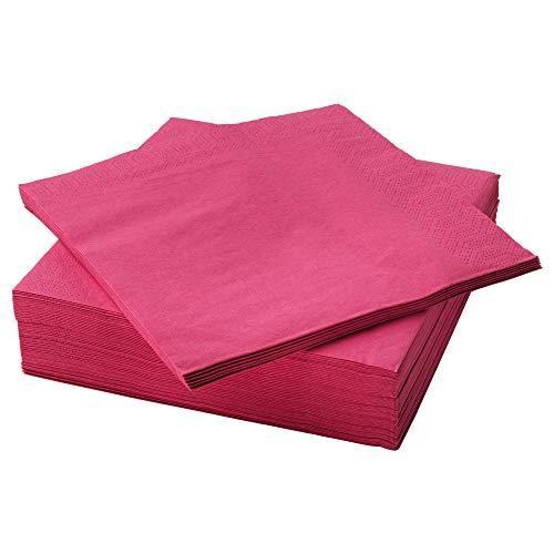 40 x 40 cm, 150 unidades Servilletas de papel IKEA FANTASTISK color rosa claro