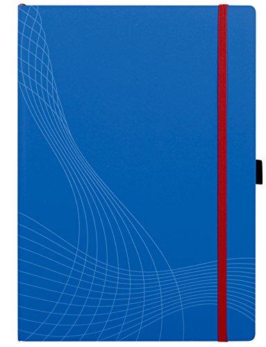 Avery 7045 Notizio Notitieboek Vierkante Ruled, Witte Lijnen op Grijs, Kast gebonden Plastic Blauw Cover (A4)