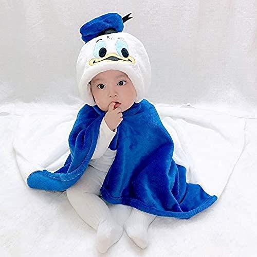Kpcxdp Albornoz de Invierno, Manto de Tela de bebé con Forma de Pato de Dibujos Animados, Albornoz Tipo Chal, Manta Suave, Toalla de baño, Toalla