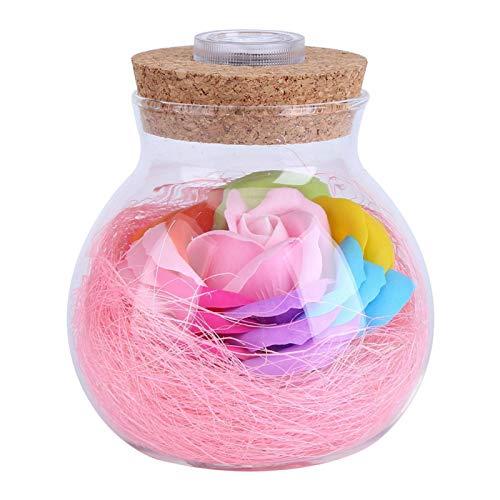 Omabeta Lámpara de Botella Lámpara Rosa Lámpara LED RGB de diseño único con Control Remoto Decoración de Fiesta de Boda para propuestas de Matrimonio (Pink)