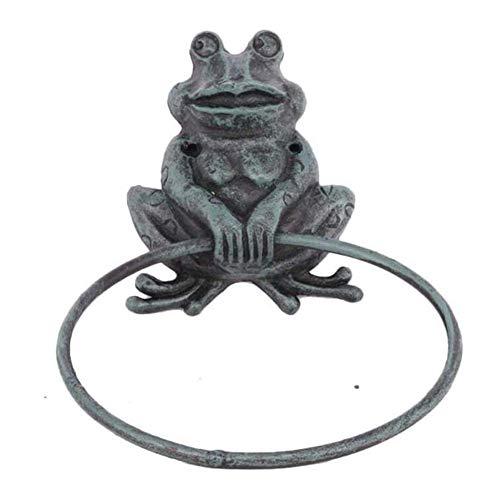 LKITYGF Magnifique Serviette Antique Barre d'essuie-Mains Bague en métal Support Mural Animal déco Cuisine Accessoires de Salle de Bain Accessoires de Salle de Bain