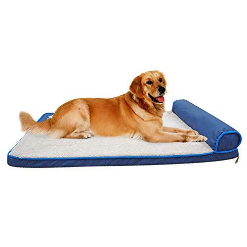 NBHBSZY Cama para Perros, sillón reclinable para sofá Cama para Mascotas de Espuma viscoelástica, Lavable, Suave y cómodo, fácil de Limpiar, Adecuado para Perros y Gatos Grandes