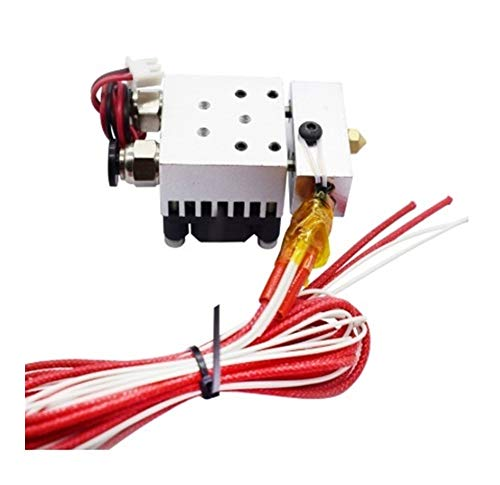 GOUJI Liupin Store Hot End 2 In 1 Out J-head Hotend Kit Double Color Extruder Single Head 12V/24V 0.4mm 1.75mm with Cooling Fan 3D Printer parts Easy to install (Size : 24V with Teflon tube)