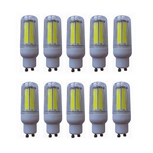 Maíz Lámpara LED GU10 LED Bombilla de maíz COB Lámpara Luz 8W Iluminación COB Led Spotlight AC200-240V 10-Pact para garaje (Color : Warm white)