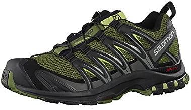 Salomon Men's XA Pro 3D Trail Running Shoes, Chive/Black/Beluga, 9