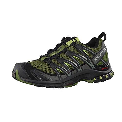 Salomon Men's XA Pro 3D Trail Running Shoes, Chive/Black/Beluga, 9.5